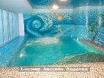 Уфа - Другие помещения - действующая сауна «Центр здоровья «Приозерный»»  в микрорайоне «Сипайлово», помещение общей площадью 336,7  кв.м.  1-й зал состоит из 2 комнат отдыха с TV, финской сауны до 9 посадочных мест, 2 душевы - Лот 2237